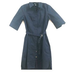 Like-new navy mini shirt dress from WHBM, size 6